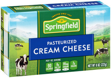 Springfield® Pasteurized Cream Cheese 8 oz. Box