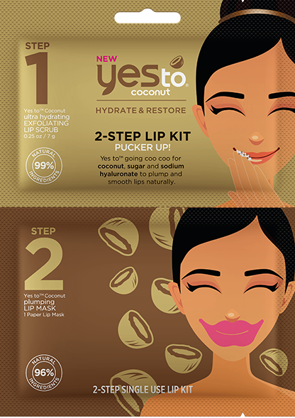 Yes To Coconut 2 Step Single Use Lip Kit Pucker Up