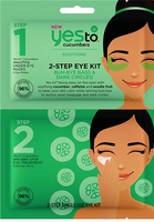 Yes To Cucumbers 2 Step Single Use Eye Kit Buh Bye Bags & Dark Circles