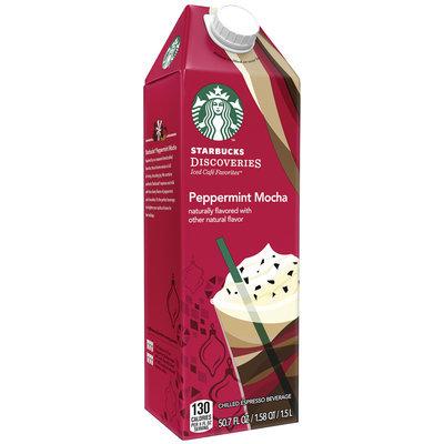 Starbucks Discoveries Peppermint Mocha Chilled Espresso Beverage 50.7 fl. oz. Carton