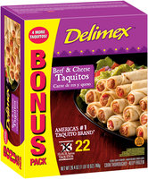 Delimex® Beef & Cheese Taquitos 26.4 oz. Box