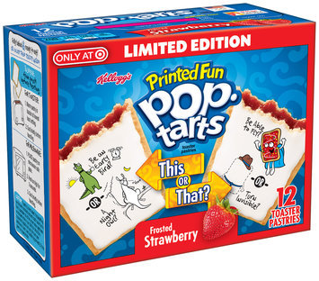 Kellogg's® Printed Fun® Pop-Tarts® Limited Edition Frosted Strawberry Toaster Pastries 12 ct Box