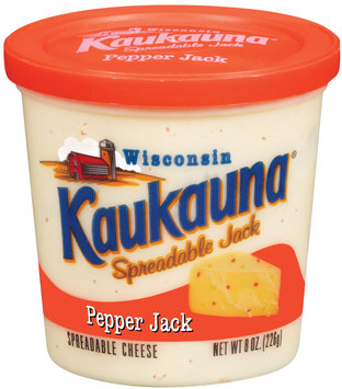 Kaukauna Pepper Jack Spreadable Cheese 8 Oz Tub