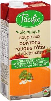 Pacific® Organic Lightly Salted Roasted Red Pepper & Tomato Soup 1 L Aseptic Pack--Pacific® Soupe Biologique Legerement Salee de Poivrons Rouges Rotis et aux Tomates 1 L Paquet Aseptique
