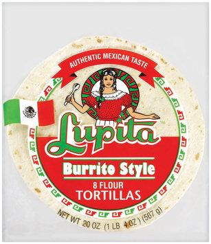 Lupita Burrito Style Flour 8 Ct Tortillas 20 Oz Bag