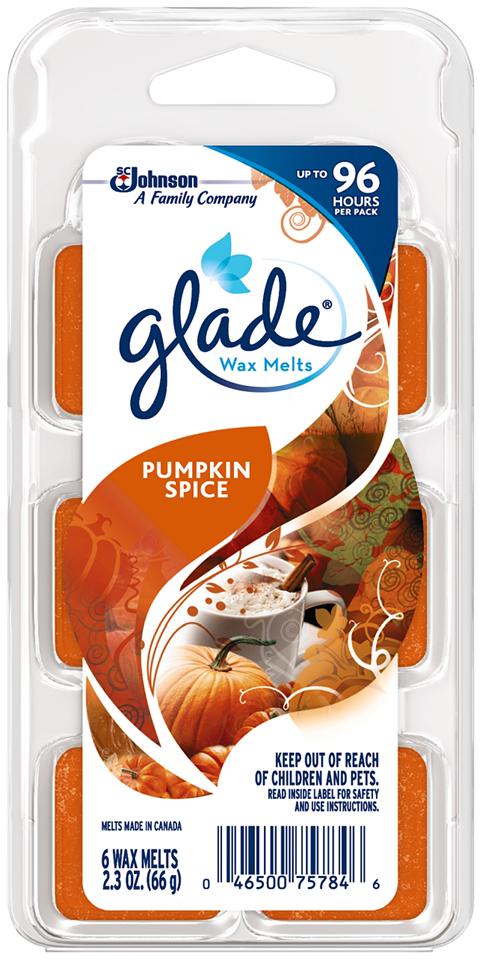 Glade® Pumpkin Spice Wax Melts Refill 6 ct Clamshell