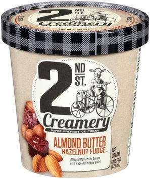 2nd St. Creamery™ Almond Butter Hazelnut Fudge™ Ice Cream 1 pt. Cup