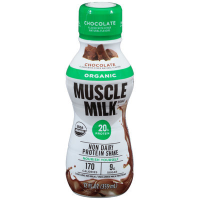 Muscle Milk® Organic Chocolate Non Dairy Protein Shake 12 fl. oz. Bottle