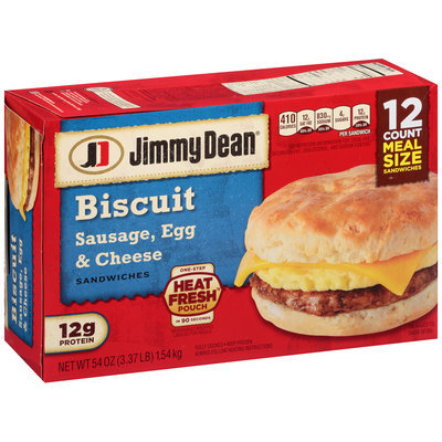 Jimmy Dean® Sausage, Egg & Cheese Biscuit Sandwiches 12 ct Box