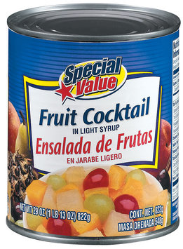 Special Value In Light Syrup Fruit Cocktail 29 Oz Can
