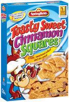Springfield Toasty Sweet Cinnamon Squares Cereal 14 Oz Box