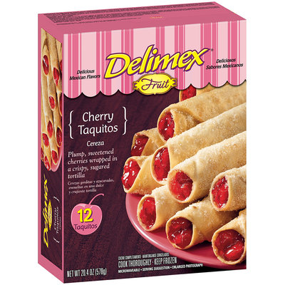 Delimex Fruit Taquitos Cherry 20.4 Oz Box