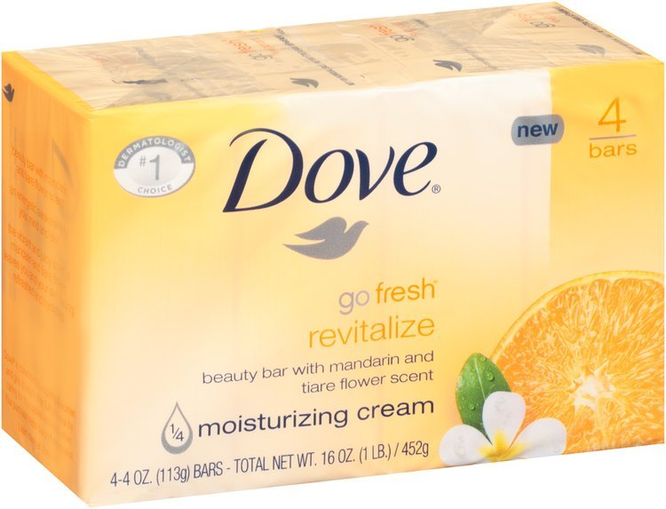 Dove® Go Fresh® Revitalize Beauty Bar 4-4 oz. Bars