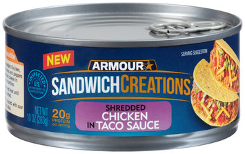 Armour® Sandwich Creations™ Shredded Chicken in Taco Sauce 10 oz. Can