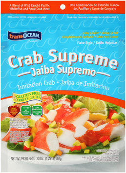 TransOcean® Products Crab Supreme Flake Style Imitation Crab 20 oz. Bag