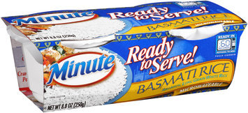 Minute® Ready to Serve! Basmati Rice Aromatic Long Grain White Rice 8.8 oz. Box