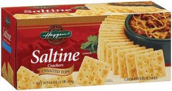 Haggen Saltine Unsalted Tops Crackers 16 Oz Box