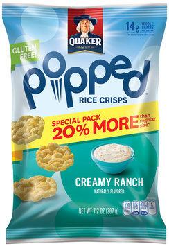 Quaker® Popped® Creamy Ranch Rice Crisps 7.2 oz. Bag