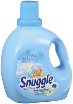 Snuggle Blue Sparkle 41 Loads Liquid Fabric Softener 100 Fl Oz Plastic Jug