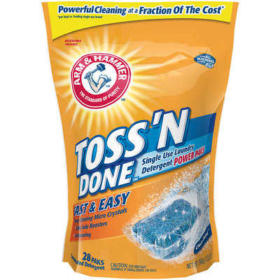 ARM & HAMMER™  Unit Dose Laundry Detergent Toss 'N Done Single Use Power paks