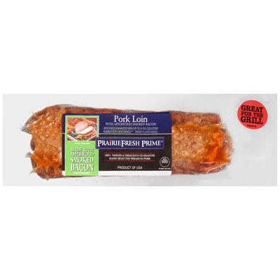 PrairieFresh Prime® Pork Loin with Applewood Smoked Bacon Pack