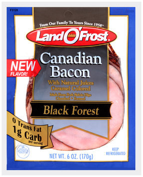 Land O' Frost® Black Forest Canadian Bacon 6 oz. Pack