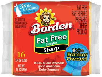Borden® Fat Free Sharp Singles 16 ct Pack