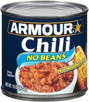 Armour No Beans Chili 15 Oz Can