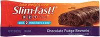 SlimFast 3.2.1 Plan Chocolate Fudge Brownie Meal Bars