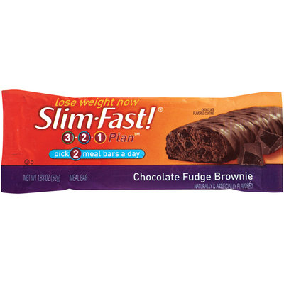 Slim-Fast 3-2-1 Meal Bars Chocolate Fudge Brownie Meal Bar 1.83 Oz Wrapper