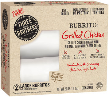 Three Bold Brothers™ Grilled Chicken Burritos 2 ct Box
