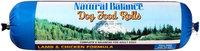 Natural Balance® Lamb & Chicken Formula Rolls Dog Food 3.5 lbs. Chub