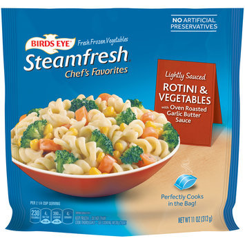 Birds Eye® Steamfresh® Chef's Favorites Rotini & Vegetables with Oven Roasted Garlic Butter Sauce 11 oz. Bag