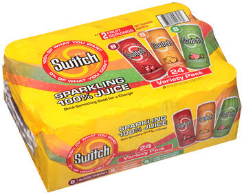 The Switch® Sparkling 100% Juice Variety Pack 24-8 fl. oz. Cans