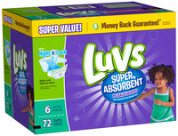 Stretch Luvs Super Absorbant Leakguards Diapers Size 6 72 Count