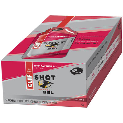 CLIF Shot® Strawberry Energy Gel 24 ct Box