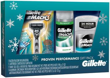Gillette Mach3 Base Razor 1 count and Mach3 Sensitive Shave gel 7oz and Gillette Invisble Solid Deodorant 2.6oz