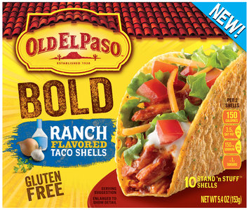 Old El Paso® Stand 'n Stuff™ Ranch Flavored Taco Shells 10 ct Box