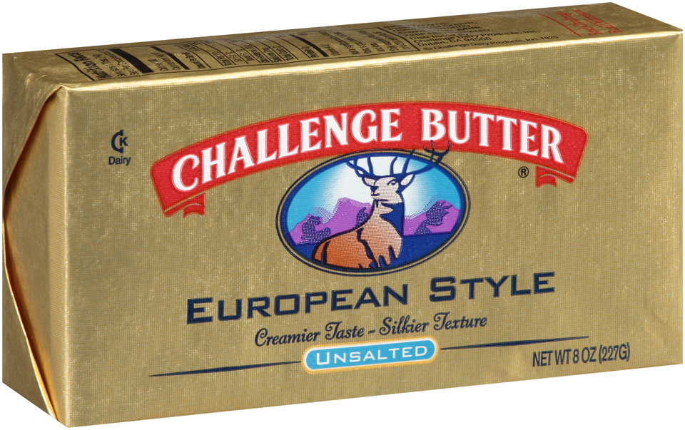 Challenge Butter® European Style Unsalted Butter 8 oz. Wrapper