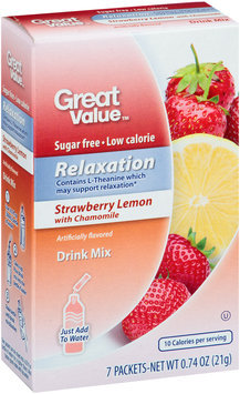Great Value™ Relaxation Strawberry Lemon with Chamomile Drink Mix 7 ct Box