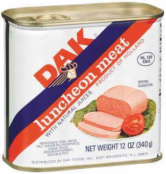 Dak W/Natural Juices Canned Luncheon Meat