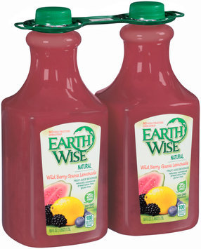 Earth Wise™ Natural Wild Berry Guava Lemonade Fruit Juice Beverage 2-59 fl. oz. Bottles