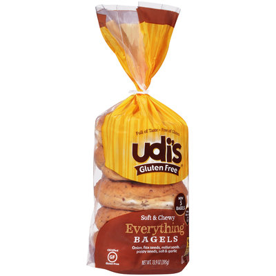 Udi's® Gluten Free Everything Bagles 13.9 oz Bag