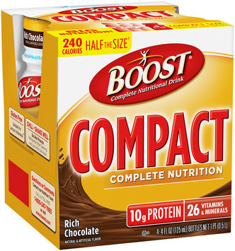 Boost® Rich Chocolate Complete Nutritional Drink 4-4 fl oz. Plastic Bottles 1 pt. Box