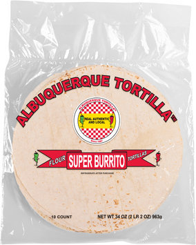 Albuquerque Tortilla™ Super Burrito Flour Tortillas 34 oz Bag