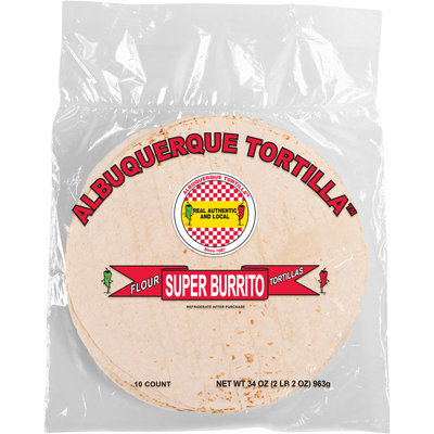 Albuquerque Tortilla™ Super Burrito Flour Tortillas 34 oz Bag