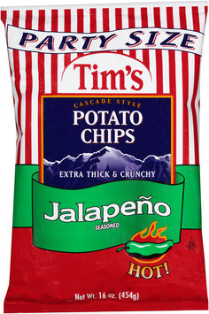 Tim's® Cascade Style Potato Chips Jalapeno Seasoned 16 oz. Bag