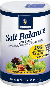 Morton Salt Balance 25% Less Sodium Than Table Salt Salt Blend 26 Oz Pour Spout