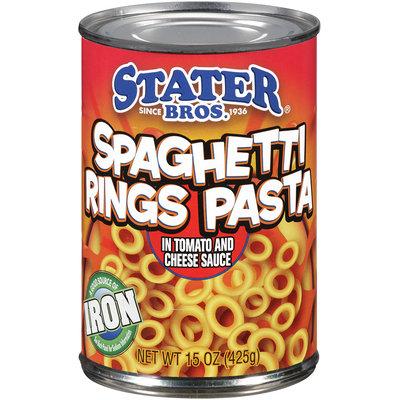 Stater Bros.® Spaghetti Rings Pasta in Tomato and Cheese Sauce 15 oz