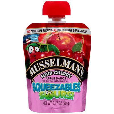 Musselman's® Squeezables Sours! Sour Cherry Apple Sauce 3.17 oz. Pouch
